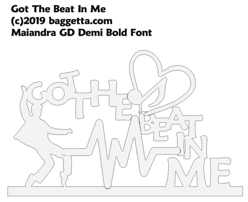GOT THE BEAT IN ME TABLE SIGN PATTERN