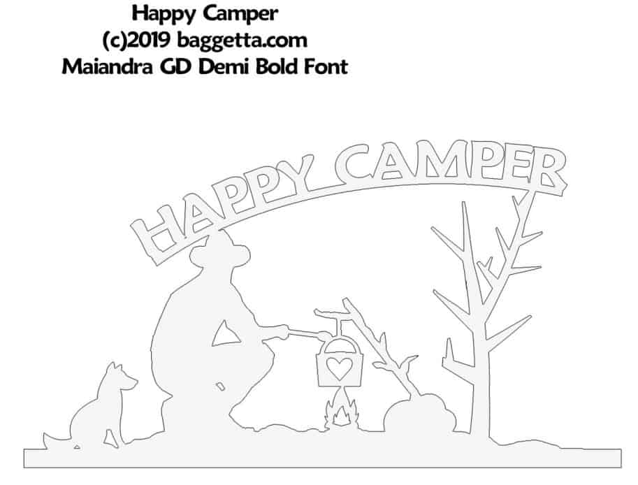 HAPPY CAMPER TABLE SIGN PATTERN