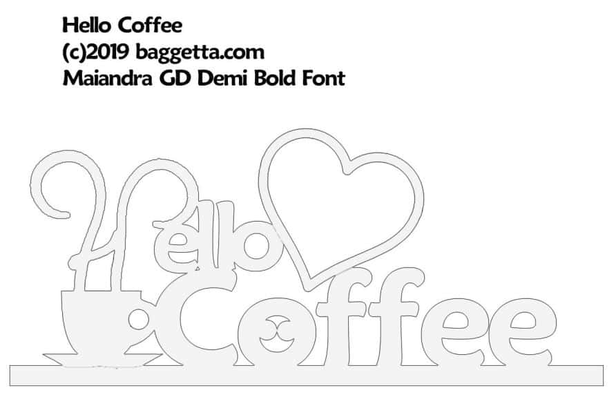 HELLO COFFEE TABLE SIGN PATTERN