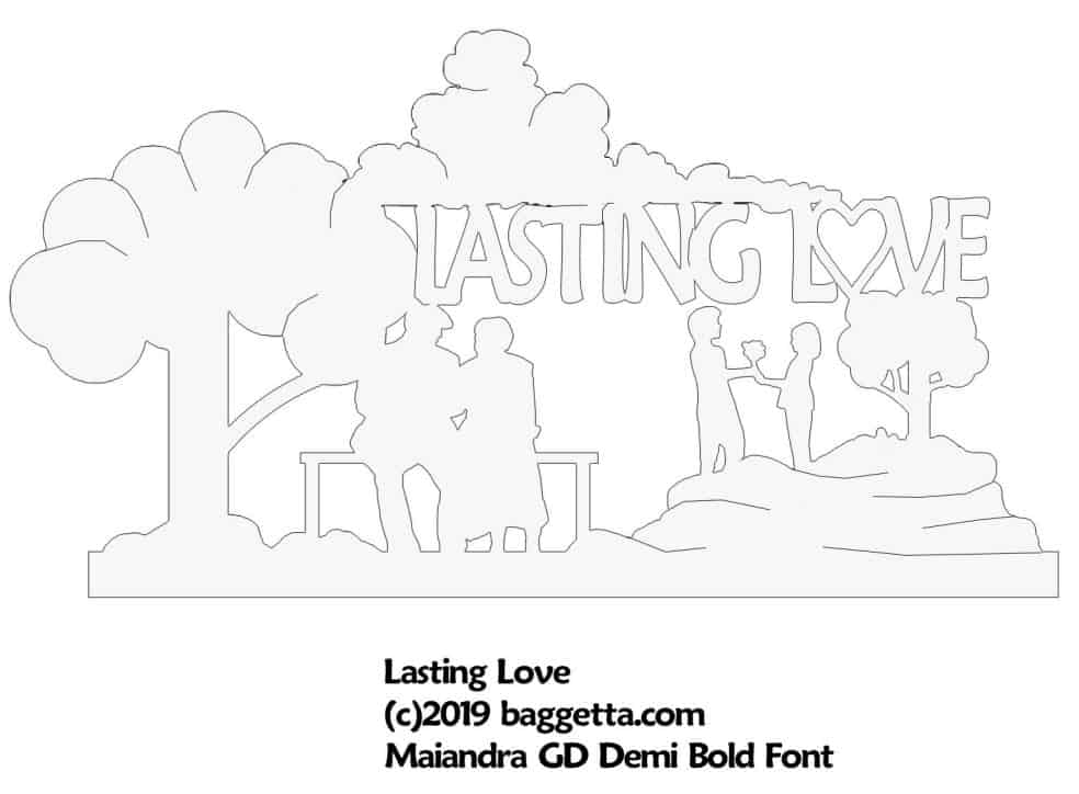 LASTING LOVE TABLE SIGN PATTERN