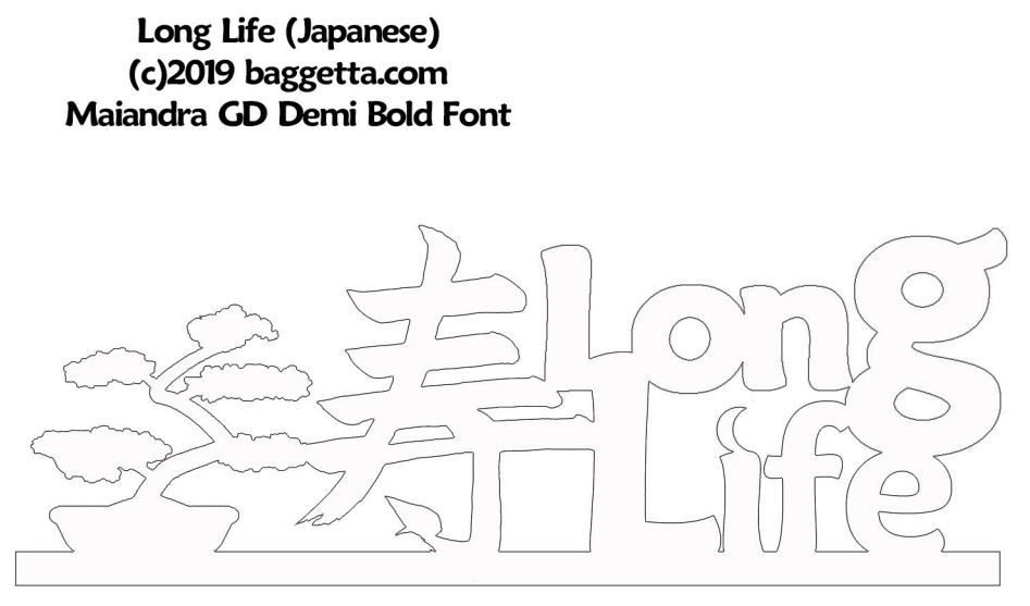 LONG LIFE TABLE SIGN PATTERN