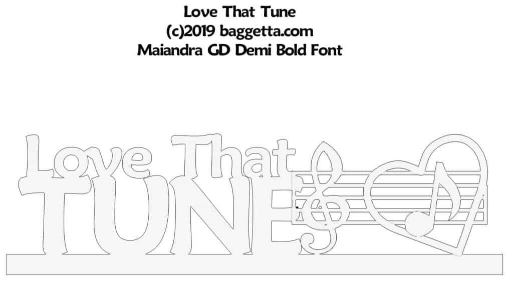 LOVE THAT TUNE TABLE SIGN PATTERN