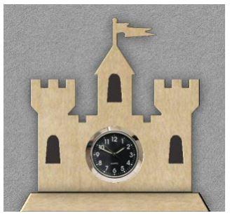 MINI WINDMILL WITH A CLOCK