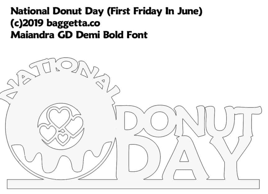 NATIONAL DONUT DAY TABLE SIGN PATTERN