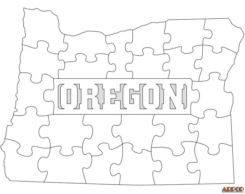 OREGON STATE SHAPED PUZZLE