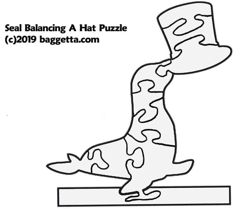 SEAL BALANCING A HAT PUZZLE PATTERN