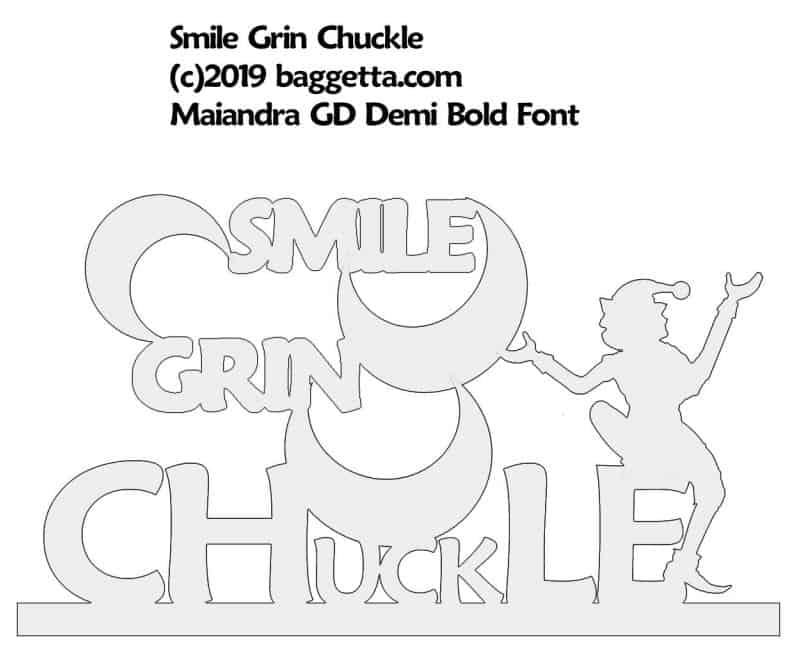 SMILE GRIN CHUCKLE TABLE SIGN PATTERN