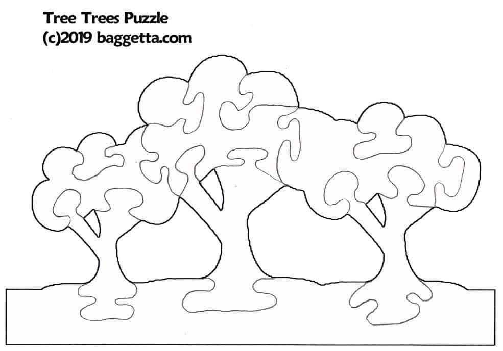 THREE-HEADED DINOSAUR PUZZLE PATTERN