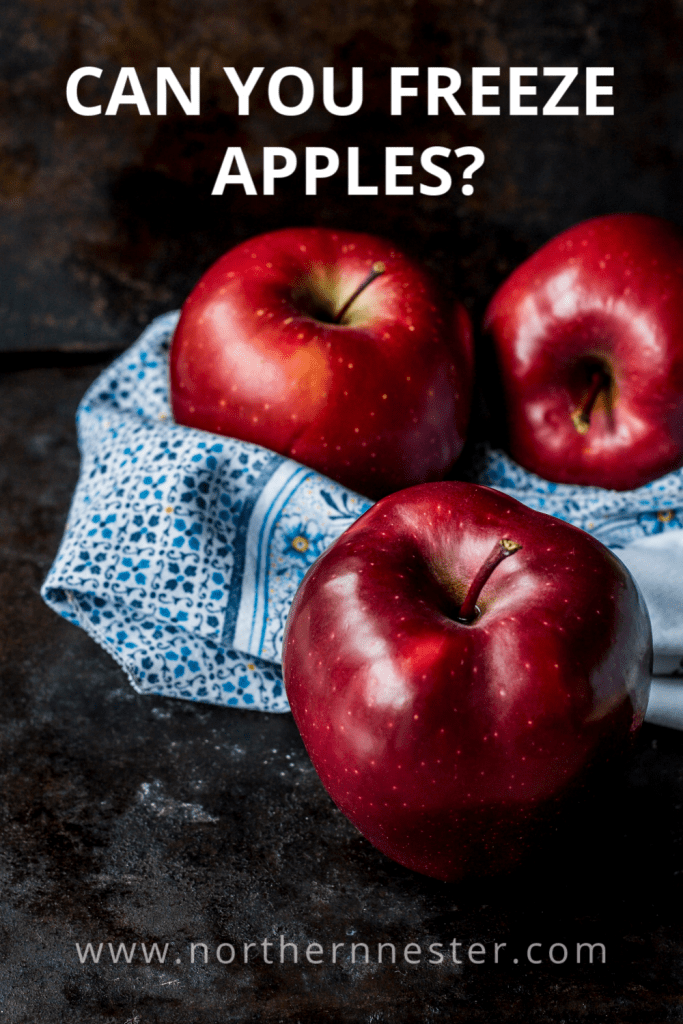 can you freeze apples pinterest image