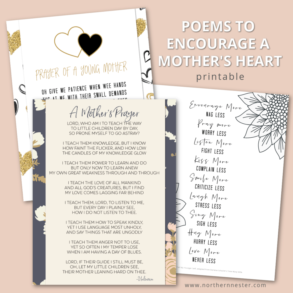 3 Poems To Encourage A Mother S Heart Northern Nester Learn how to write a poem about mum and share it! 3 poems to encourage a mother s heart