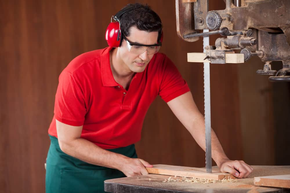 using a bandsaw