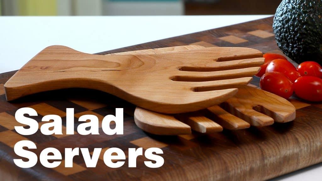 HARDWOOD SALAD SERVERS