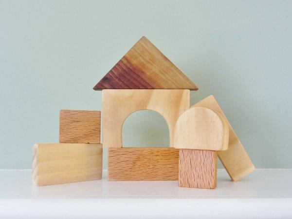 Natural Wooden Blocks for Children