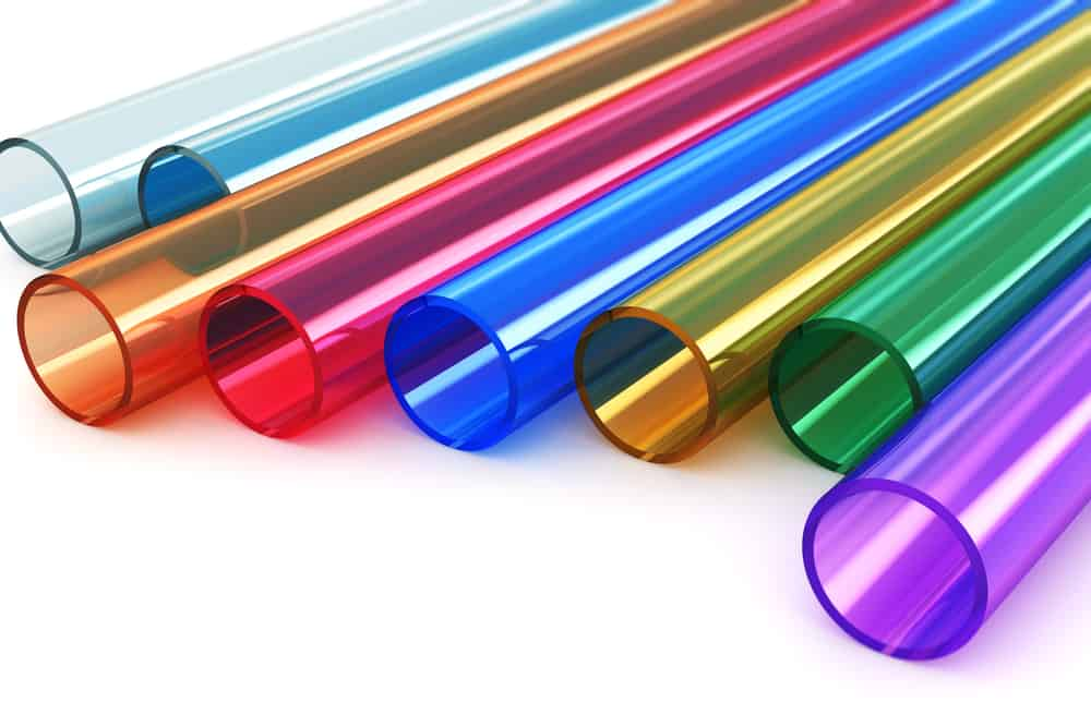 acrylic plastic tubes