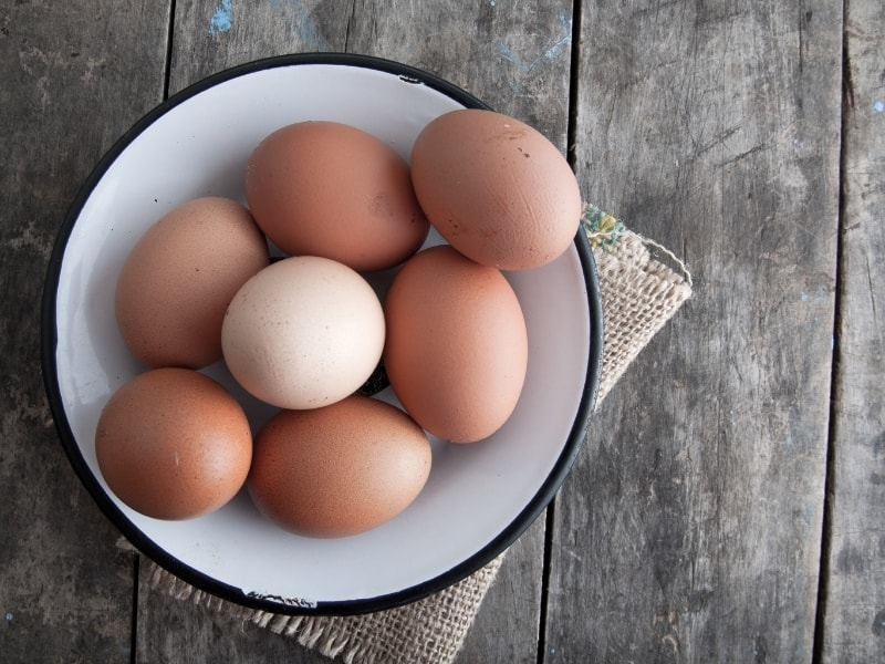 types of eggs