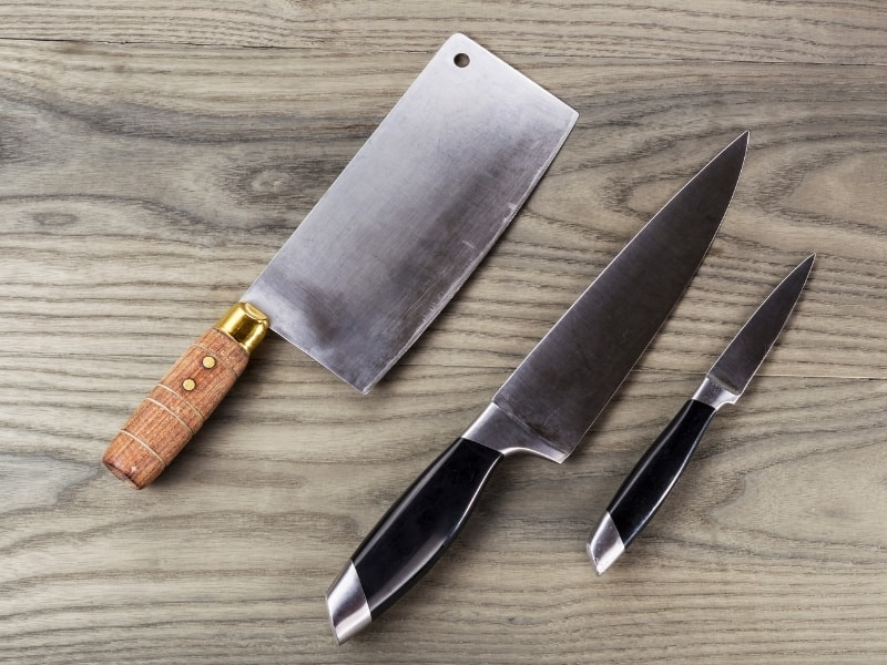 most common kitchen knives