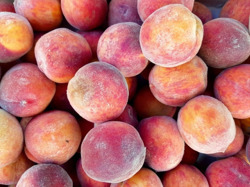 should you wash peaches before storing