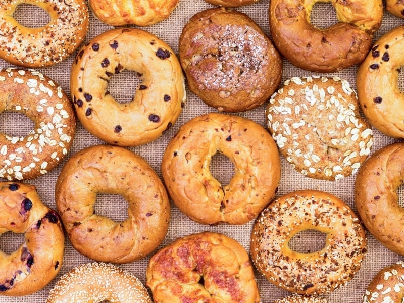 different types of bagels