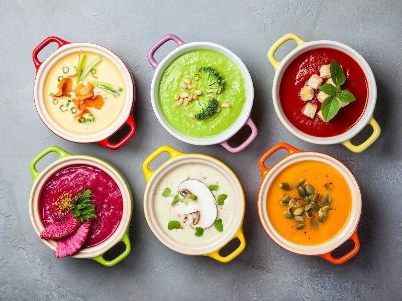 different types of soups