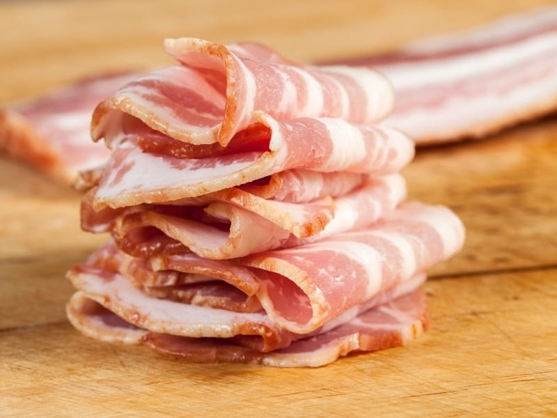 different cuts of bacon